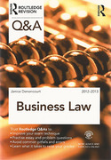 Cover of Routledge Revision Q&A: Business Law 2012-2013