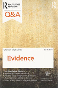 Cover of Routledge Revision Q&A: Evidence 2013 - 2014