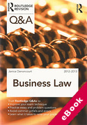 Cover of Routledge Revision Q&A: Business Law 2012-2013 (eBook)