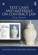 Cover of Text, Cases & Materials on Contract law