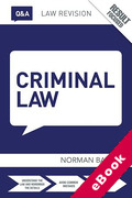 Cover of Routledge Law Revision Q&A: Criminal Law  (eBook)