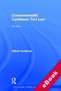 Cover of Commonwealth Caribbean Tort Law (eBook)
