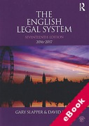 Cover of The English Legal System 2016-2017 (eBook)
