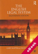 Cover of The English Legal System (eBook)