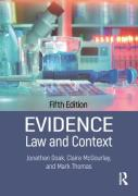 Cover of Evidence: Law and Context