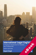 Cover of International Legal English: A Practical Introduction for Students and Professionals (eBook)