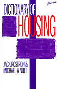 Cover of Dictionary of Housing