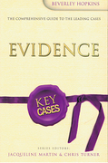 Cover of Key Cases: Evidence