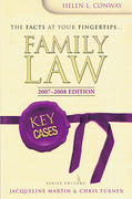 Cover of Key Cases: Family Law 2007 - 2008