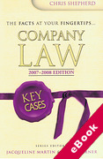 Cover of Key Cases: Company Law 2007-2008 (eBook)