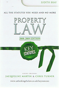 Cover of Key Statutes: Property Law 2008-2009
