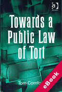 Cover of Towards a Public Law of Tort (eBook)