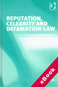 Cover of Reputation, Celebrity and Defamation Law (eBook)