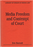 Cover of Media Freedom and Contempt of Court