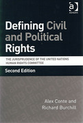 Cover of Defining Civil and Political Rights: The Jurisprudence of the United Nations Human Rights Committee