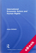 Cover of International Economic Actors and Human Rights (eBook)