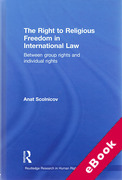 Cover of Right to Religious Freedom in International Law: Between group rights and individual rights (eBook)