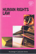 Cover of Routledge Lawcards: Human Rights Law 2010 - 2011