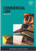 Cover of Routledge Lawcards: Commercial Law 2010 - 2011