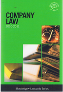 Cover of Routledge Lawcards: Company Law 2010-2011