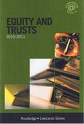 Cover of Routledge Lawcards: Equity and Trusts 2010 - 2011