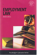 Cover of Routledge Lawcards: Employment Law 2010 - 2011