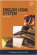 Cover of Routledge Lawcards: English Legal System 2010 - 2011