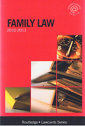 Cover of Routledge Lawcards: Family Law 2010 - 2011