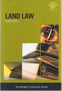 Cover of Routledge Lawcards: Land Law 2010 - 2011