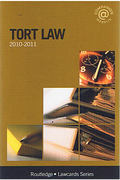 Cover of Routledge Lawcards: Tort Law 2010 - 2011