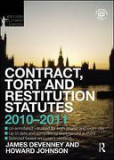 Cover of Routledge Student Statutes: Contract, Tort and Restitution Statutes 2010-2011