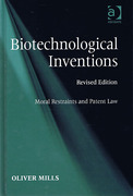 Cover of Biotechnological Inventions: Moral Restraints and Patent Law