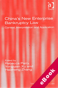 Cover of China's New Enterprise Bankruptcy Law: Context, Interpretation and Application (eBook)