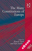Cover of The Many Constitutions of Europe (eBook)