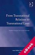 Cover of From Transnational Relations to Transnational Laws: Northern European Laws at the Crossroads (eBook)