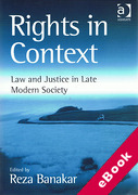Cover of Rights in Context: Law and Justice in Late Modern Society (eBook)