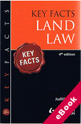 Cover of Key Facts: Land Law (eBook)