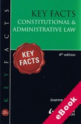 Cover of Key Facts: Constitutional and Administrative Law (eBook)