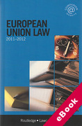 Cover of Routledge Lawcards: European Union Law 2011 - 2012 (eBook)