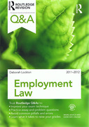 Cover of Routledge Q&A: Employment Law 2011 - 2012