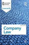 Cover of Routledge Lawcards: Company Law 2012-2013