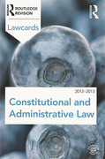Cover of Routledge Lawcards: Constitutional and Administrative Law 2012-2013