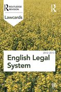 Cover of Routledge Lawcards: English Legal System 2012-2013