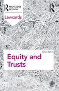 Cover of Routledge Lawcards: Equity and Trusts 2012-2013