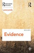 Cover of Routledge Lawcards: Evidence 2012-2013