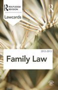 Cover of Routledge Lawcards: Family Law 2012-2013