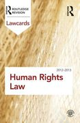Cover of Routledge Lawcards: Human Rights Law 2012-2013