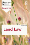 Cover of Routledge Lawcards: Land Law 2012-2013