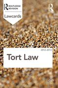 Cover of Routledge Lawcards: Torts 2012-2013