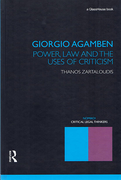 Cover of Giorgio Agamben: Power, Law and the Uses of Criticism